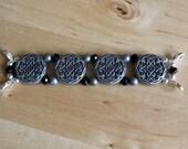 ON SALE Custom Order for Karen - Pewter Watch Band, Silver Watch Face and Silver Watch Band, Bracelet Watch