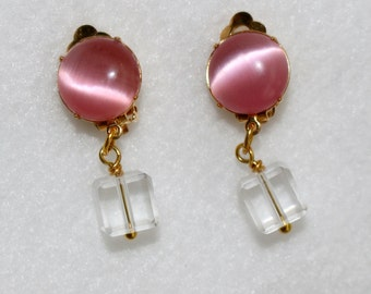 Clip On Earrings Pink Gold Clip On Earrings