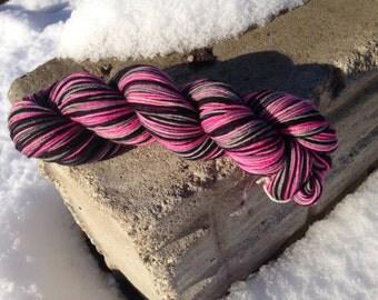 READY TO SHIP Party Half Pint Sock 75/25% Superwash Merino Nylon Blend Hand Dyed Sock Yarn 50gr