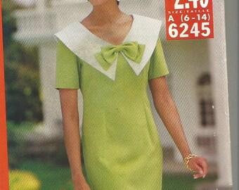 Vintage Butterick See & Sew Dress Pattern SZ 6-14