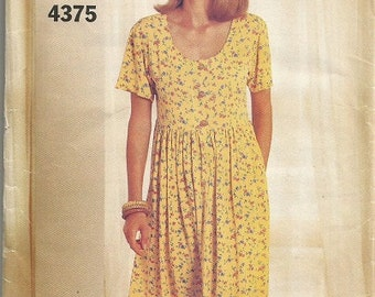 Butterick 4375 See and Sew Dress Pattern SZ 6-10