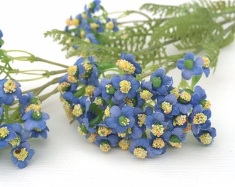 BLUE Forget Me Not Flower Spray - Artificial Flowers, Silk Flowers, Flower Crown, Halo, Circlet