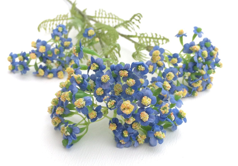 Blue forget me not flower spray artificial flowers silk flowers 599 dhlflorist Gallery