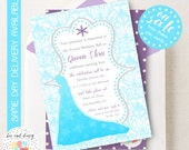 Frozen Birthday Party Invitation, Frozen Party, Frozen Baby Shower, Frozen Birthday, Elsa invitation, Elsa Party, Elsa Birthday, BeeAndDaisy