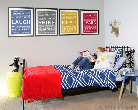 Wall art for teens teenager room decor tween kids industrial for Boys wall art