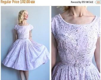 20% Sale 1950s Dress // Life Line Dress // vintage 50s dress