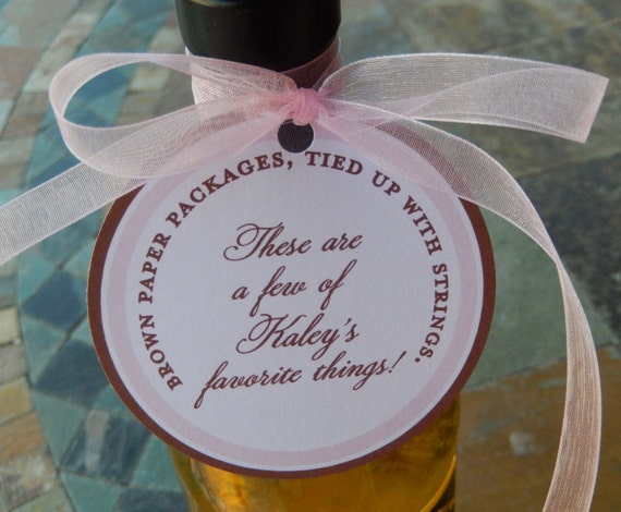 "Sound of Music Inspired 3"" Custom Favor Tags - For Wine Bottles - Favor Boxes - Party Favors - (50) personalized circle printed tags"