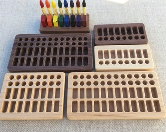 Wooden Crayon Holder for Beeswax Blocks and Sticks