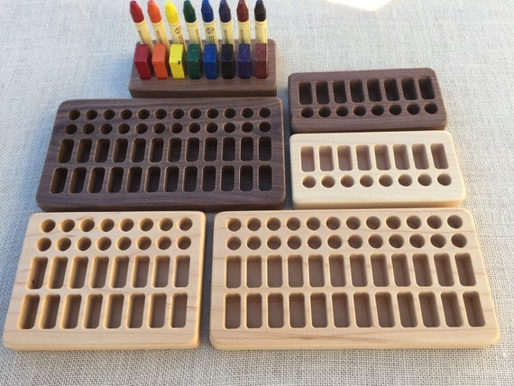 wooden crayon holder for beeswax blocks and sticks by fromjennifer. Black Bedroom Furniture Sets. Home Design Ideas