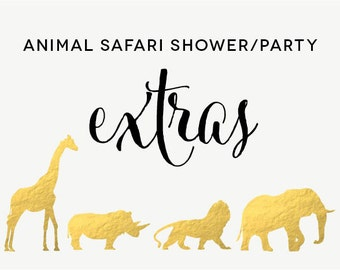 Safari Animal Baby Shower/Party Custom Add-Ons