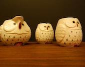 Japanese Owl Tea Set / 3 pieces