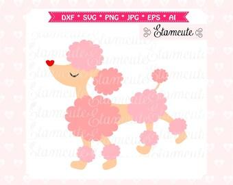 parisian poodle cutting file, poodle vector clip art, French Poodle Silhouette clip art, poodle clipart, SVG cut files frame