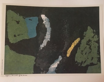 Sister Corita Kent Vintage Print 1960s - Night In The Midst Of Her Course