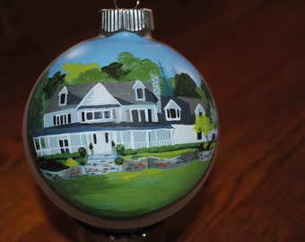 New Custom Hand Painted Home portrait done from picture -   sold