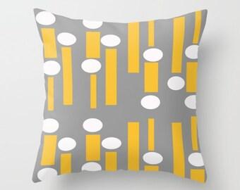 Yellow Outdoor Pillow, Striped Outdoor Pillow, Modern Outdoor Pillow, Mid Century Modern Outdoor Pillow, Modern Outdoor