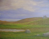 South Uist Croft...Scotland     oil painting