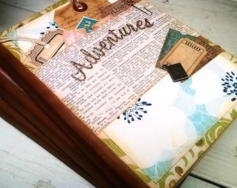 Adventures Journal Notebook Smashbook Art Journal Travel Vacation Road Trip Honeymoon