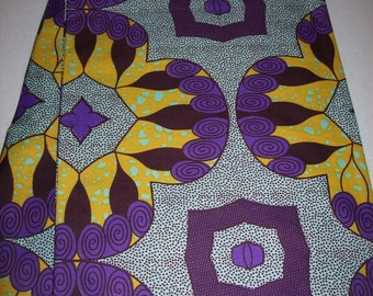 Per Yard, Purple and orange color Supreme Wax Holland African fabric/Ankara wax print/ Holland wax prints/ Supreme Holland fabrics