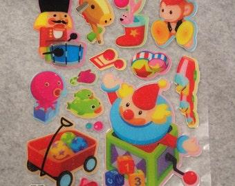 Cute Little Puffy Shining Glitter Kiddy Toys  Stickers