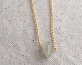 Green quartz faceted necklace on 18k Gold Filled chain / choose your necklace size / FREE gift wrapping