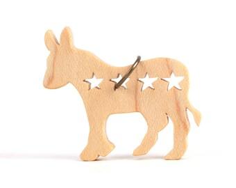 Political Jewelry, Democrat Donkey Pendant, USA Election 2016, USA Politics, Democrat Necklace, Get out the Vote, Maple
