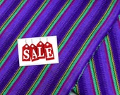Guatemalan Fabric Purple Stripes -Acrylic