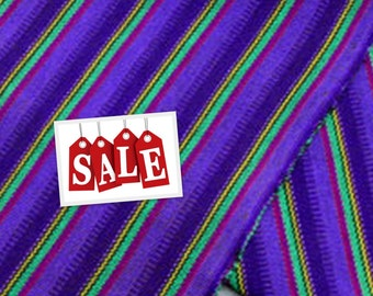 Guatemalan Fabric Purple Stripes -Acrylic