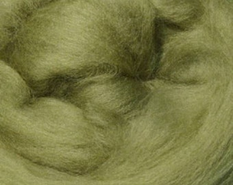 Superfine Merino Wool Top - 19 micron - Asparagus - 4 ounces