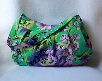 Purple and Green Buttercup Bag - Bouquet Bliss by Amy Butler