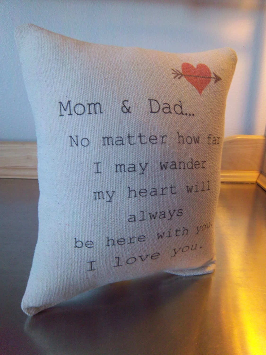 Mom And Dad Pillow Mom Dad Anniversary Gift Love Quote Throw