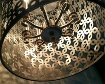 Silver Drum Chandelier***Casts beautiful light to any space!