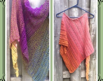 PDF Crochet Pattern - Rain Chain Shawl (permission to sell finished item) - Instant Download