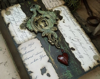 Age of Innocence  - Mixed Media Blank Journal