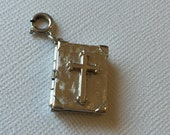 Vintage Monet Holy Bible Lord's Prayer Charm