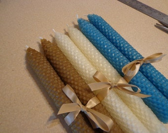 Beach inspired Beeswax Candles