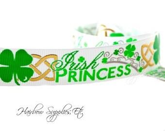 Irish Princess 7/8 inch St Patricks Day Ribbon - St Patricks Day Hair Bows, St Pattys Day, St Patricks Day, St Patricks, St Patricks Day Bow