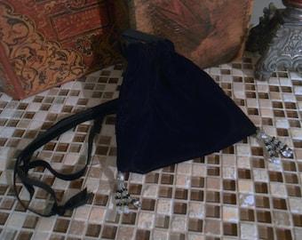 G026   Ready To Ship    Milady's Renaissance Velvet Drawstring Bag Evening Special Occasion Bag