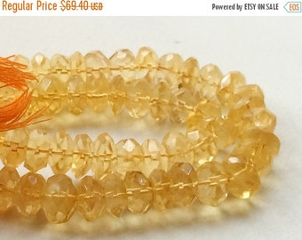 55% ON SALE Citrine, Sparkling Golden Orange Citrine Micro Faceted Rondelles, Citrine Necklace, 9mm - 11mm, 7 Inch Strand, 32 Pieces