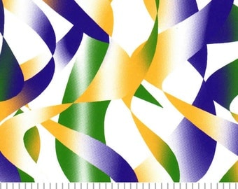 Mardi Gras Ribbons Cotton by Fabric Finders
