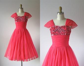 vintage 1950s dress / 50s dress / Bubblegum Bop