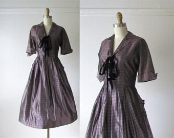 SALE vintage 1950s dress / 50s dress / Party Stripes
