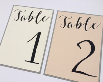 Wedding Table Numbers, Blush Pink Wedding Table Numbers, Bridal Shower Table Numbers, Wedding Table Signs, Wedding Signs, Lace Invitations