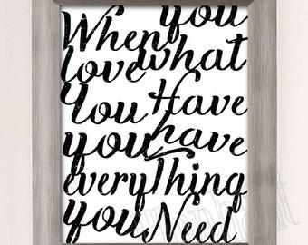 Love Everything Art Print - Instant Download Printable Art