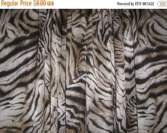 ON SALE SPECIAL--Zebra Print Hammered Satin Polyester Fabric--One Yard