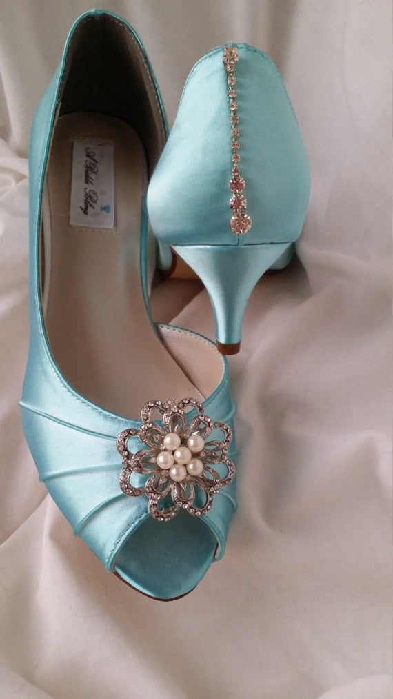etsy wedding shoes blue wedding shoes wedding shoes with vintage inspired 3943
