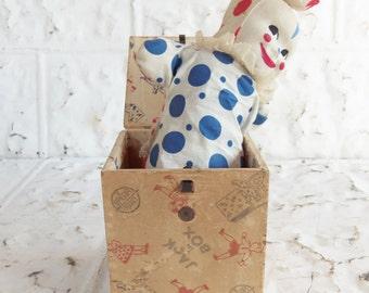 Vintage Spear Toy  Clown Jack in Box