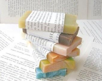 Soap Sampler, Six Soap Sample Bars For Keeping or Sharing, Hot and Cold Process Soap bar soap