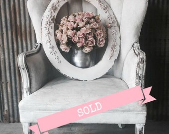 L A Y A W A Y.......O V A L Vintage Shabby Chic Mirror French Country Nursery Vanity