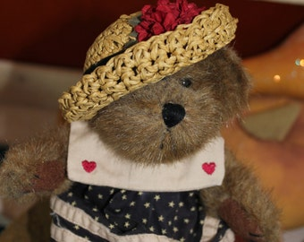 Little Teddy Bear in Navy Dress