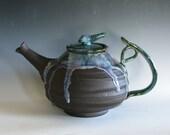 Ceramic Teapot, EXTRA LARGE holds 88 oz, Handmade Stoneware Teapot, Large Ceramic Teapot